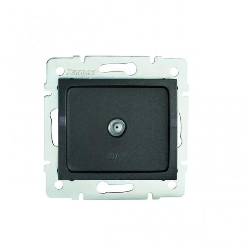 Kanlux 27129 LOGI Anténní zásuvka typu F (SAT) - grafit