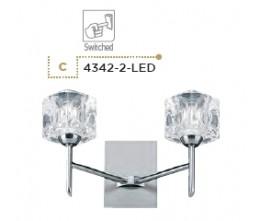 Searchlight 4342-2-LED Ice Cube, LED Nástenné svietidlo