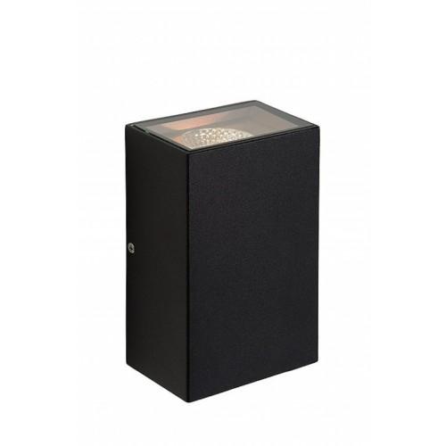 Lucide 27865/10/30 HYRO-LED Wall Light 2x5W IP54 L10/W6/H16cm Black