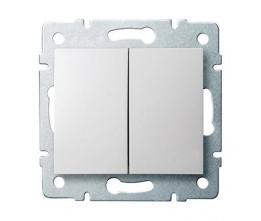 Kanlux LOGI 25066 Združený lustrový vypínač 10AX - 250V~,biely