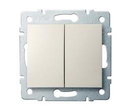 Kanlux LOGI 25126 Združený lustrový vypínač 10AX - 250V~ , krémový
