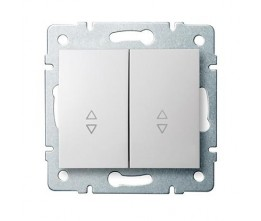 Kanlux LOGI 25073 Schodišťový vypínač dvojitý 10AX - 250V~,biely