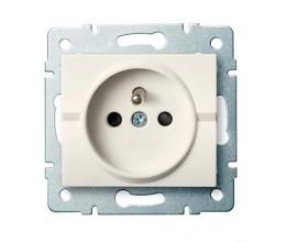 Kanlux LOGI 25149 Zásuvka samostatná s ochranou kontaktov  16A - 250V~,krémový