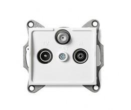 Kanlux LOGI 25102 Zásuvka SAT-TV-R priebežná,biely