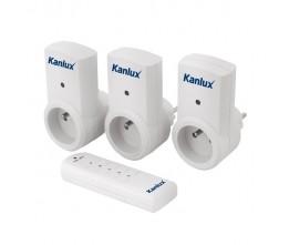 Kanlux 07980 APO  TM-3, zásuvky na diaľkové ovládanie