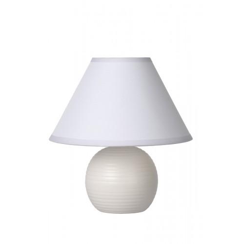 Lucide 14550/81/31 KADDY Table Lamp E14 H22 D20cm White