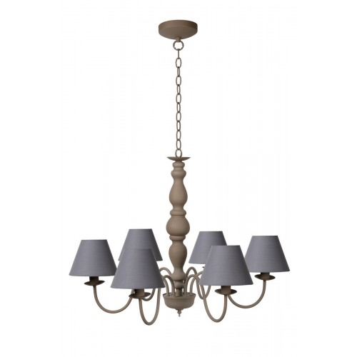Lucide 31333/06/41 CAMPAGNE Chandelier 8xE14 Shade61009/16/36) T