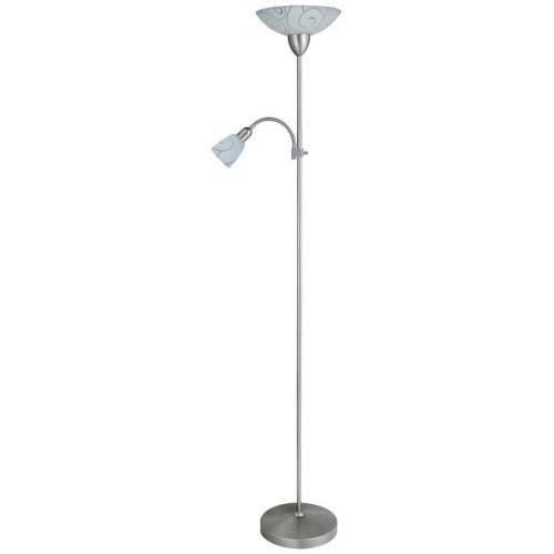 Rábalux 4091 Harmony lux, 2-ram. stojacia lampa, satén. chróm., s kábl.spínač